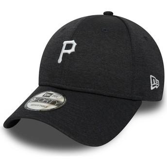 Gorra curva negra ajustable 9FORTY Shadow Tech de Pittsburgh Pirates MLB de New Era