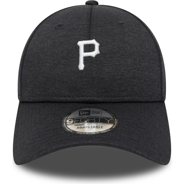 new-era-curved-brim-9forty-shadow-tech-pittsburgh-pirates-mlb-black-adjustable-cap