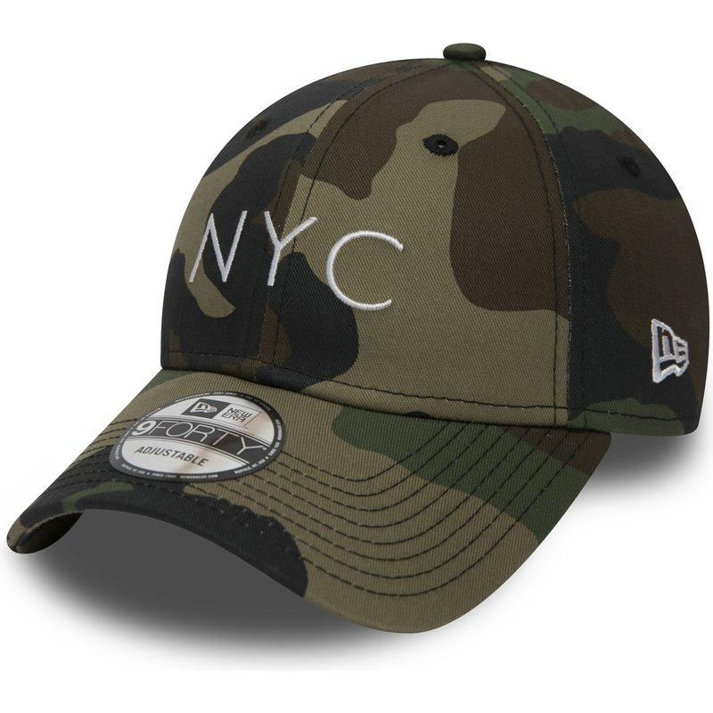 New Era Curved Brim 9FORTY Essential NYC Camouflage Adjustable Cap  Shop  Online at Caphunters 569a08af72b