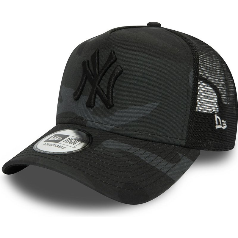 New Era Essential Camo A Frame New York Yankees Mlb Black