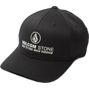 Gorra curva negra ajustada Super Clean Xfit de Volcom