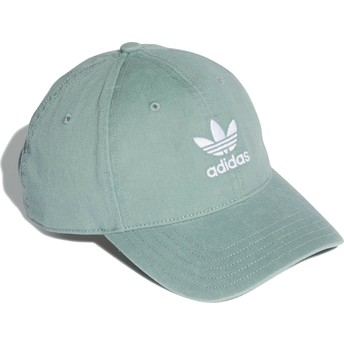 Adidas Curved Brim Washed Adicolor Green Adjustable Cap