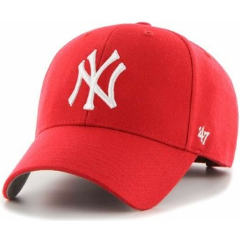 47 Brand Curved Brim Youth MVP New York Yankees MLB Red Adjustable Cap