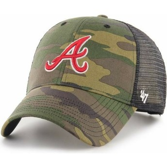 47 Brand MVP Branson Atlanta Braves MLB Camouflage Trucker Hat