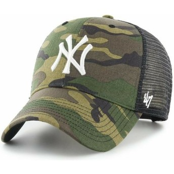 47 Brand White Logo MVP Branson New York Yankees MLB Camouflage Trucker Hat