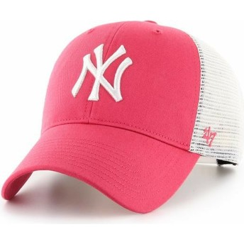 47 Brand MVP Flagship New York Yankees MLB Pink Trucker Hat