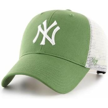 47 Brand MVP Flagship New York Yankees MLB Green Trucker Hat