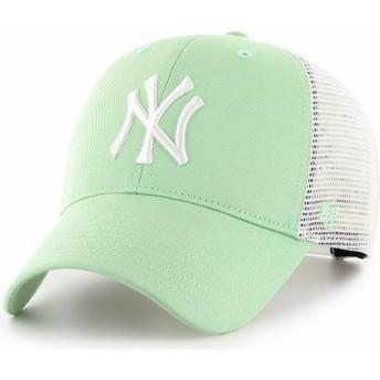 47 Brand MVP Flagship New York Yankees MLB Light Green Trucker Hat