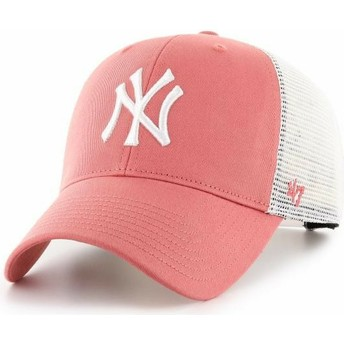47 Brand MVP Flagship New York Yankees MLB Red Trucker Hat