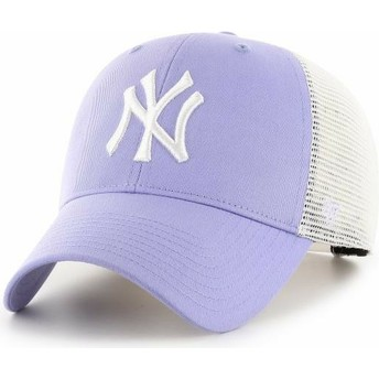 47 Brand MVP Flagship New York Yankees MLB Lavender Purple Trucker Hat