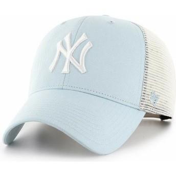 47 Brand MVP Flagship New York Yankees MLB Light Blue Trucker Hat