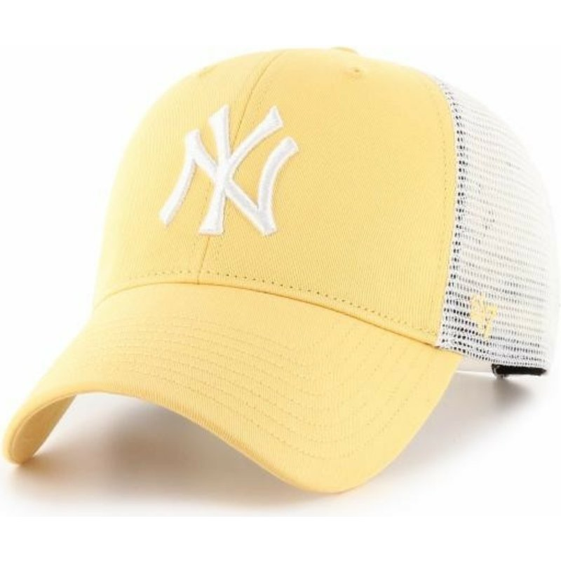 47 Brand MVP Flagship New York Yankees MLB Yellow Trucker Hat  Shop ... de43ab0e347