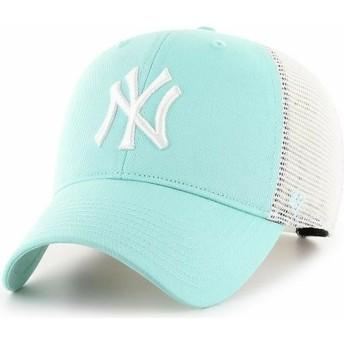47 Brand MVP Flagship New York Yankees MLB Tiffany Blue Trucker Hat