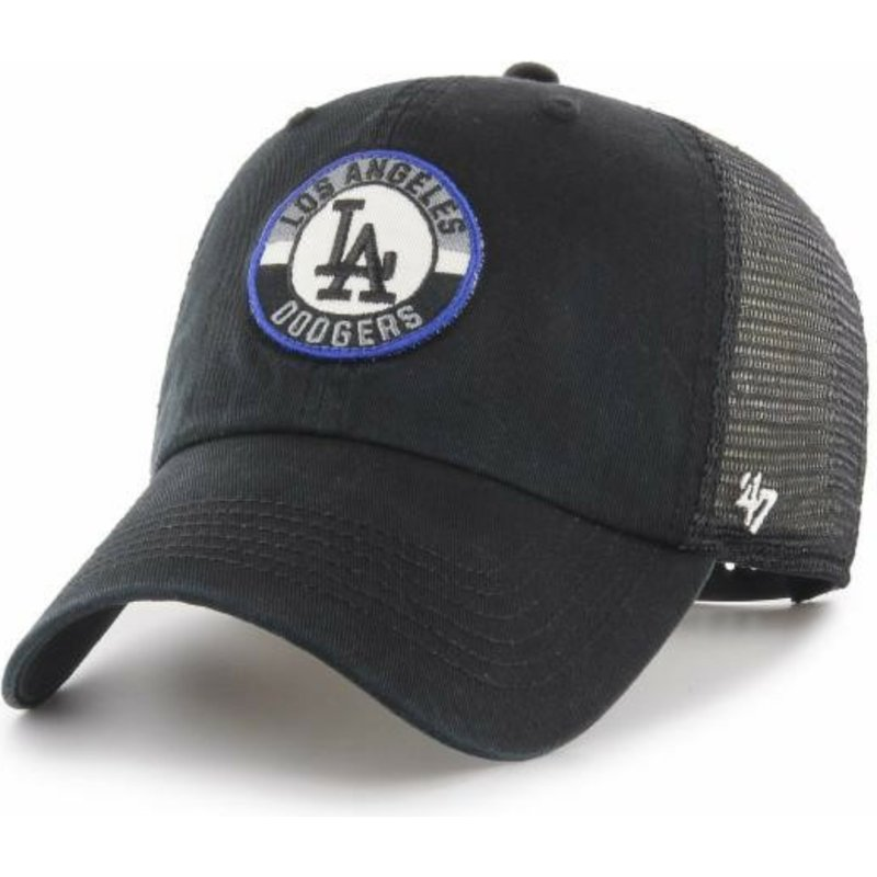 47 Brand Clean Up Porter Los Angeles Dodgers MLB Black Trucker Hat ... 16a533060a2