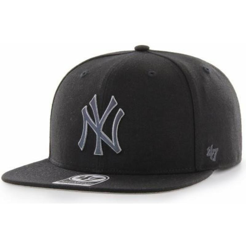 47 Brand Flat Brim Captain Iridescent New York Yankees MLB Black ... 1356b8f1278a