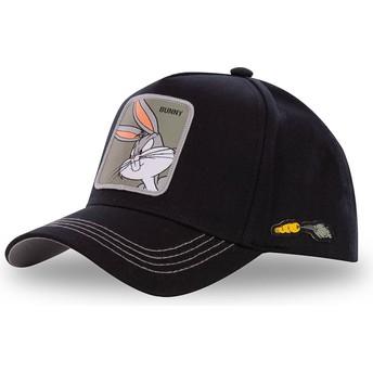 Capslab Curved Brim Bugs Bunny BUN3 Looney Tunes Black Snapback Cap