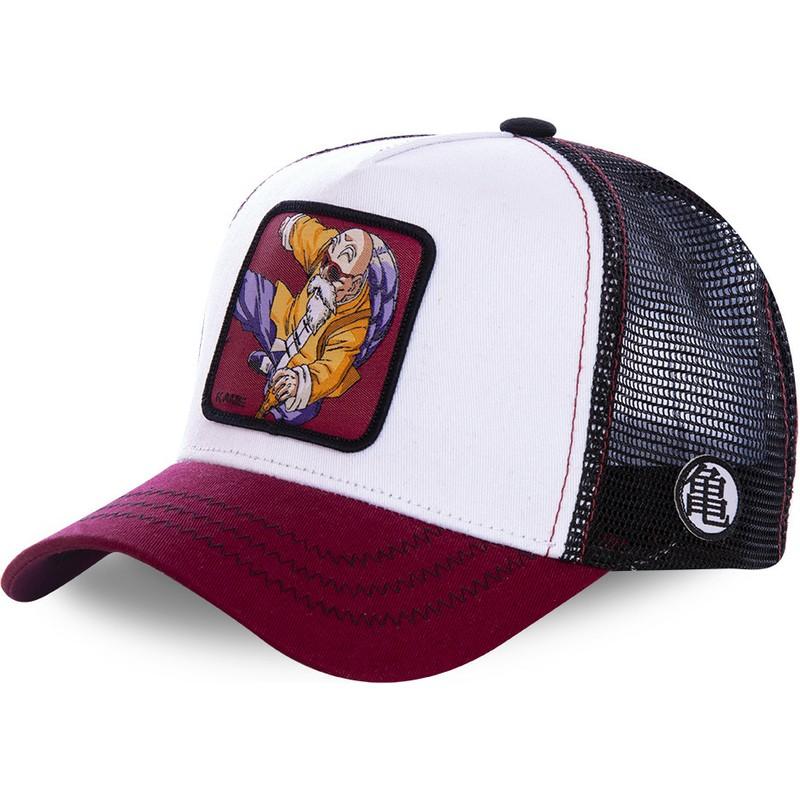 famosa marca de diseñador cupón doble costo moderado Capslab Master Roshi KAM7 Dragon Ball White, Black and Red Trucker Hat