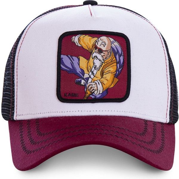 capslab-master-roshi-kam7-dragon-ball-white-black-and-red-trucker-hat
