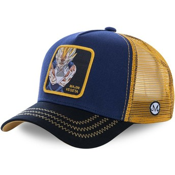 Capslab Majin Vegeta MV1 Dragon Ball Navy Blue and Orange Trucker Hat
