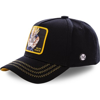 Capslab Curved Brim Majin Vegeta MV3 Dragon Ball Black Snapback Cap