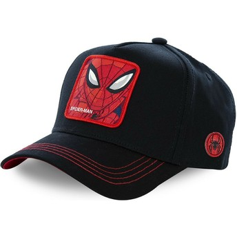 Capslab Curved Brim Spider-Man SPI3 Marvel Comics Black Snapback Cap