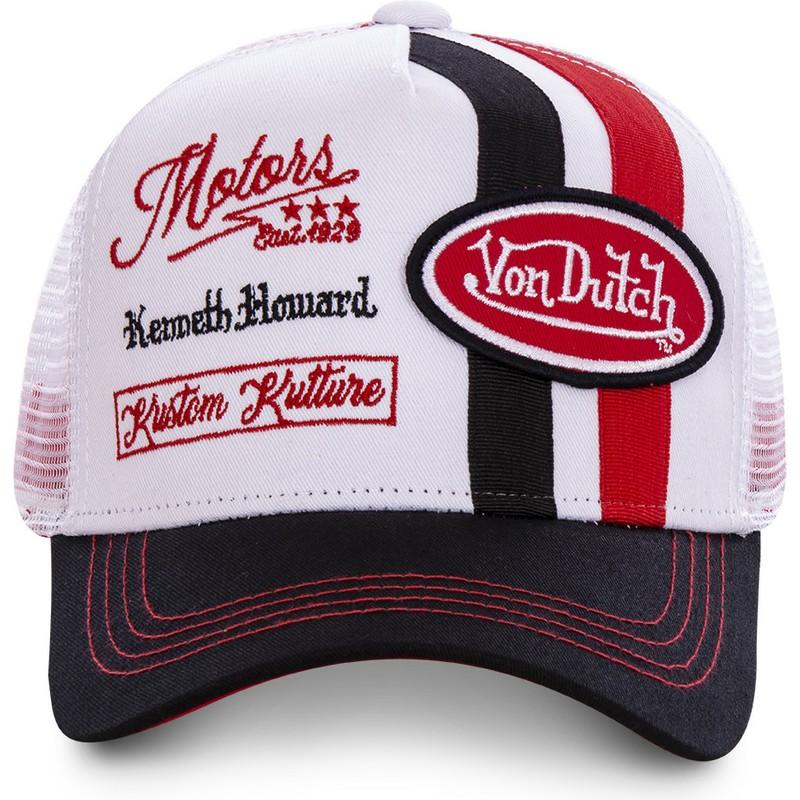e140bbd77 Von Dutch MCQRED White and Red Trucker Hat