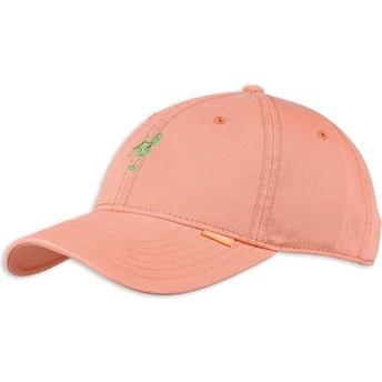 Gorra curva rosa ajustable Washed Girl de Djinns