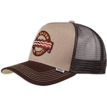 Djinns Food Bacon Brown Trucker Hat