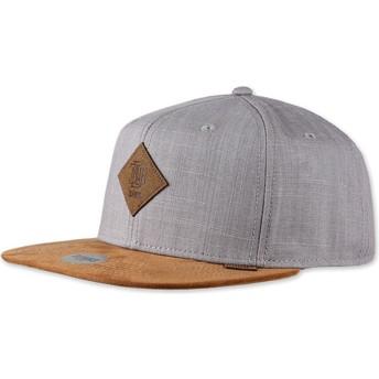 Djinns Flat Brim Linen 2015 Grey Snapback Cap