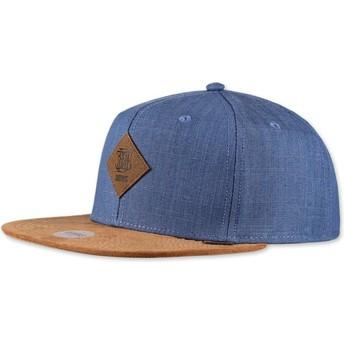 Djinns Flat Brim Linen 2015 Navy Blue Snapback Cap