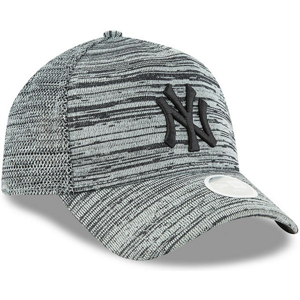 new-era-curved-brim-black-logo-9forty-engineered-fit-new-york-yankees-mlb-grey-adjustable-cap