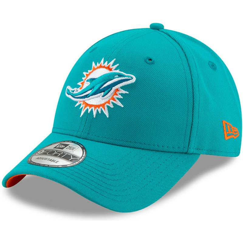 new-era-curved-brim-9forty-the-league-miami-dolphins-nfl-blue-adjustable-cap