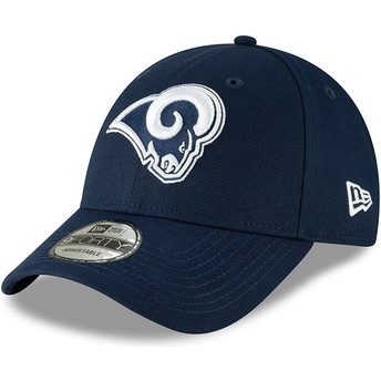 Gorra curva azul ajustable 9FORTY The League de Los Angeles Rams NFL de New Era