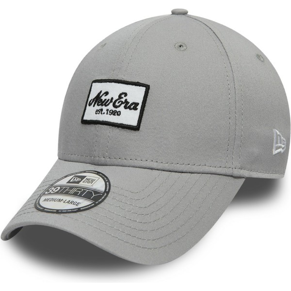 new-era-curved-brim-youth-39thirty-seasonal-script-patch-grey-fitted-cap
