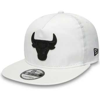New Era Flat Brim Youth 9FIFTY A Frame Premium Sport Chicago Bulls NBA White Snapback Cap