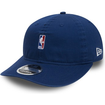 New Era Flat Brim Youth 9FIFTY Low Profile NBA Logo Blue Snapback Cap