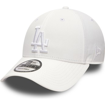 New Era Curved Brim White Logo 9FORTY Nano Ripstop Los Angeles Dodgers MLB White Adjustable Cap