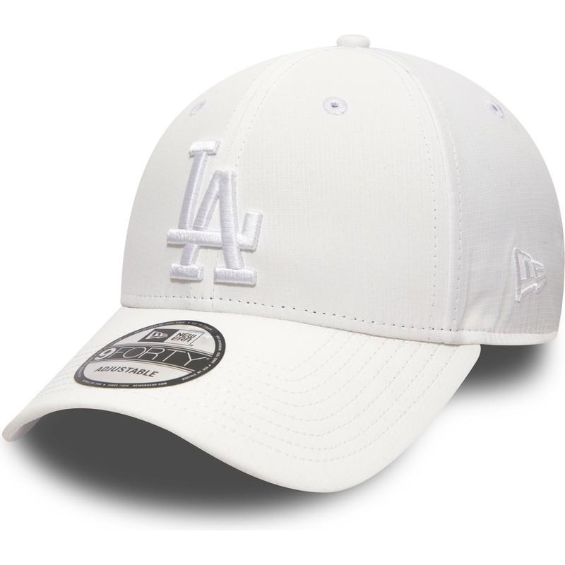 977b113357d530 New Era Curved Brim White Logo 9FORTY Nano Ripstop Los Angeles ...