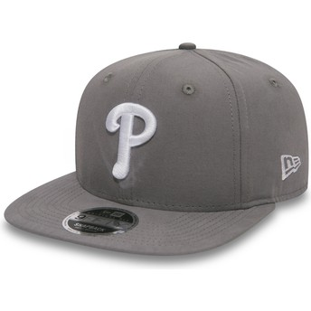 New Era Flat Brim 9FIFTY Essential Lightweight Philadelphia Phillies MLB Grey Snapback Cap