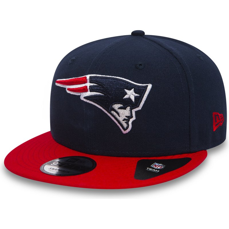 a7f688e7 New Era Flat Brim 9FIFTY Team New England Patriots NFL Navy Blue ...