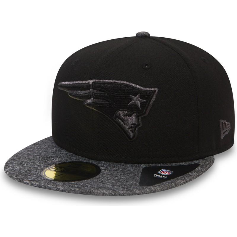 2e0361ec132 New Era Flat Brim 59FIFTY Grey Collection New England Patriots NFL ...