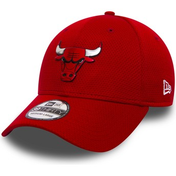 New Era Curved Brim 39THIRTY Logo Pack Chicago Bulls NBA Red Fitted Cap