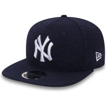 New Era Flat Brim 9FIFTY Slub New York Yankees MLB Navy Blue Snapback Cap