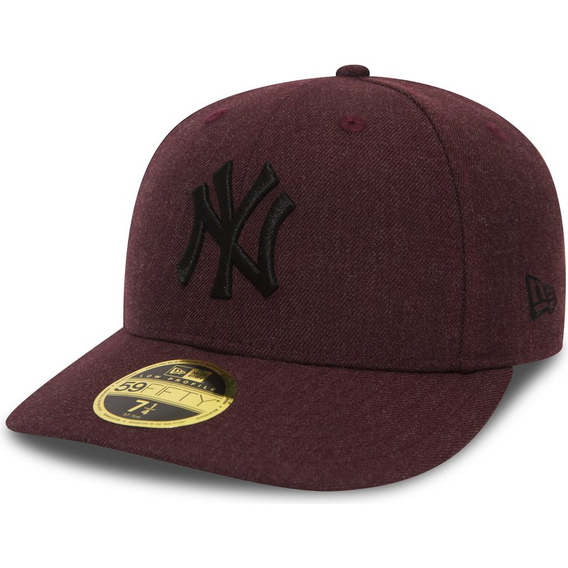 New Era Flat Brim Black Logo 59FIFTY Low Profile Heather New York ... 79fcb957c8f