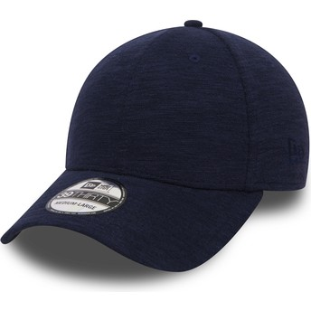 New Era Curved Brim 39THIRTY Slub Navy Blue Fitted Cap