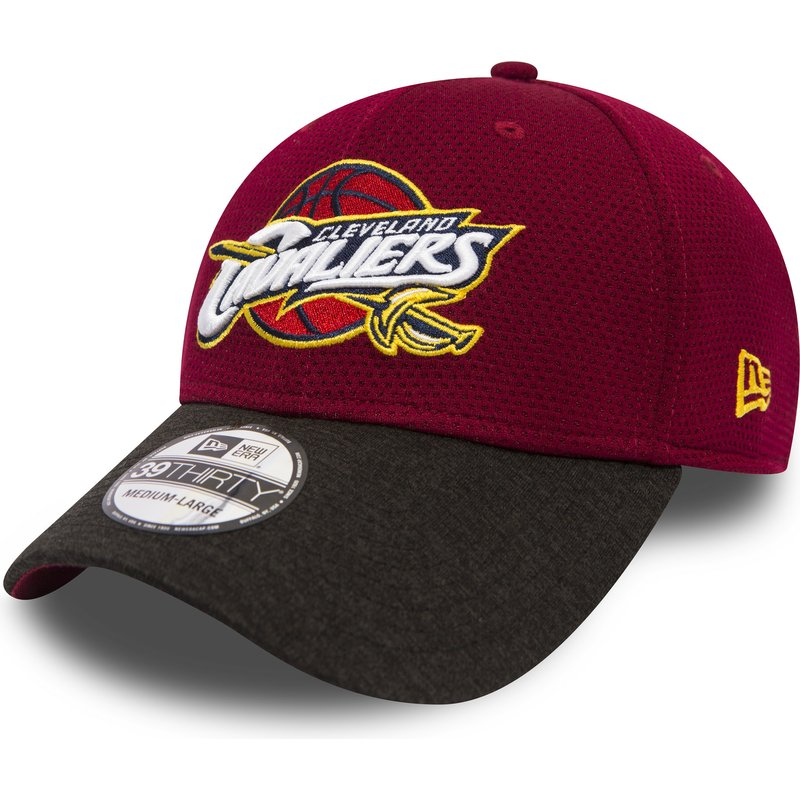 new-era-curved-brim-39thirty-shadow-tech-cleveland-cavaliers-nba-red-fitted-cap-with-black-visor