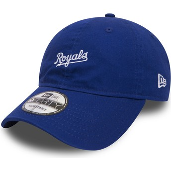 New Era Curved Brim 9FORTY Mini Wordmark Kansas City Royals MLB Blue Adjustable Cap