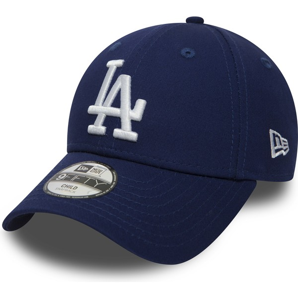 new-era-curved-brim-youth-9forty-essential-los-angeles-dodgers-mlb-blue-adjustable-cap