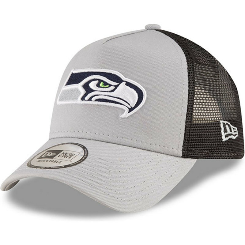 8f90633d6ec9d New Era 9FORTY Team Seattle Seahawks NFL Grey Trucker Hat  Shop ...