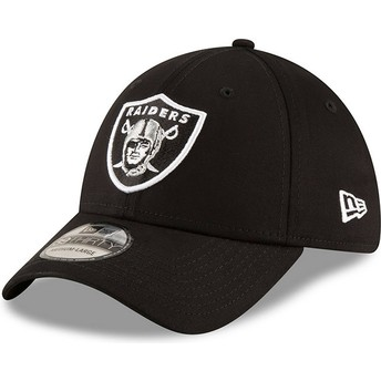 New Era Curved Brim 39THIRTY Base Oakland Raiders NFL Black Fitted Cap